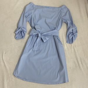 J McLaughlin Off Shoulder Poplin Dress EUC